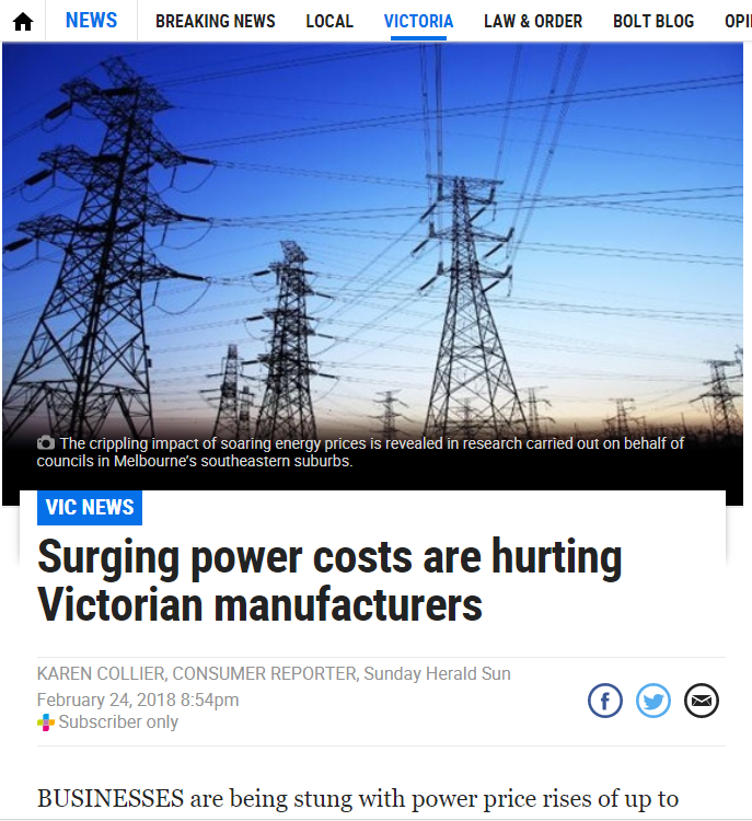 Herald Sun Feature Energy Survey